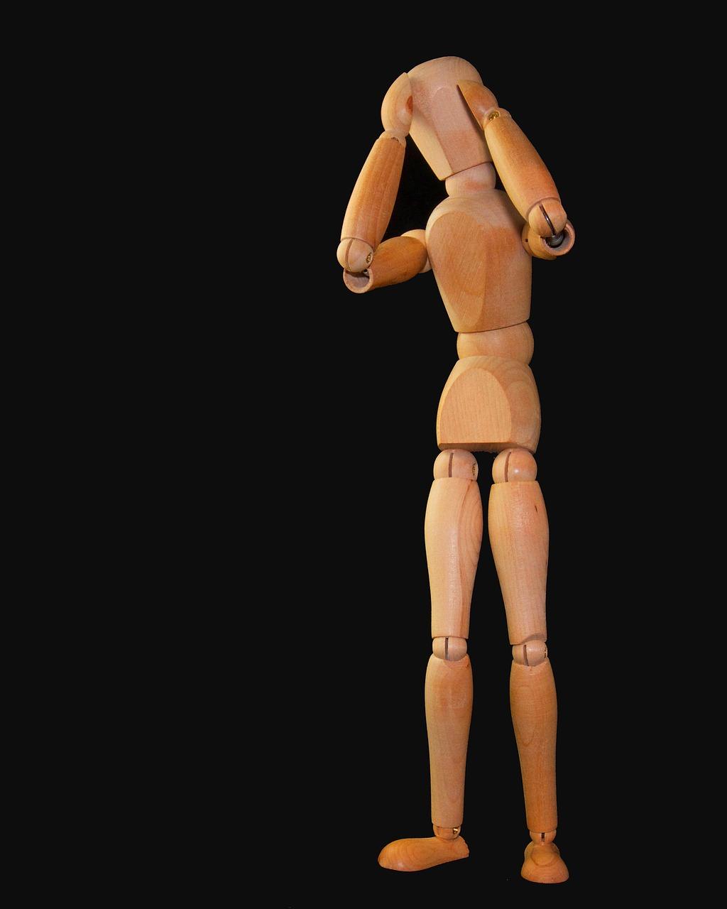 Hodepine figur